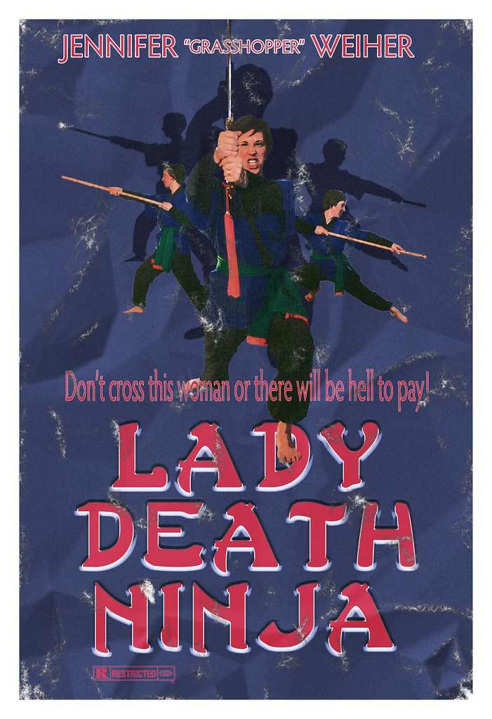 lady death ninja had to create a movie poster for one of