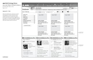 AOL.com Web Strategy Demo: Wireframe: Page 2 of 10 / 2004-07-23 / SML Interaction Design | by See-ming Lee (SML)