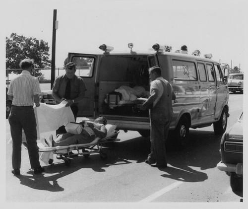 Gross Mortuary's 1970 Bright Yellow Ford Superior Van Ambu