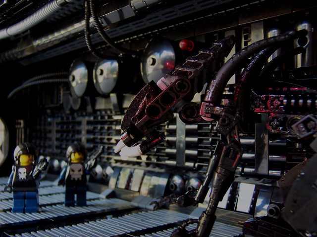 Aliens inspired spaceship interior a series of dioramas for Inside 2007 movie online free