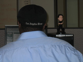 Jevon (with Simon Cowell bobblehead) proudly wears the logo | by eulken