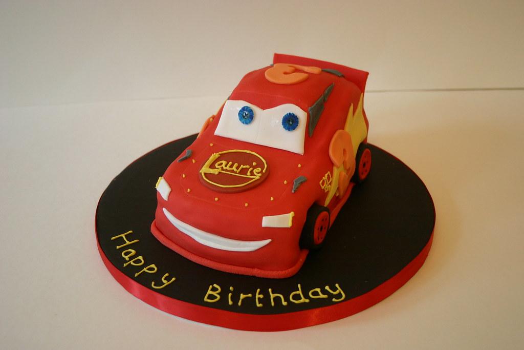 lightning laurie mcqueen cake cars birthday cake based flickr. Black Bedroom Furniture Sets. Home Design Ideas