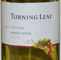 Turning Leaf 2006 Pinot Noir Front | by 2 Guys Uncorked