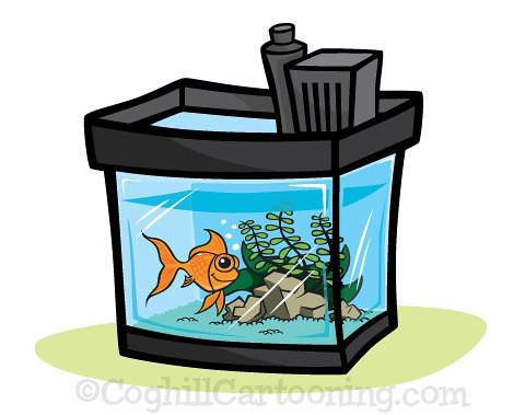 Cartoon Aquarium Illustration This Cartoon Aquarium Fishta Flickr