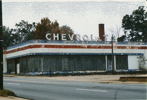old chevy dealership old chevy dealership located somewher flickr. Black Bedroom Furniture Sets. Home Design Ideas