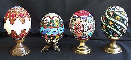 Ostrich Egg Lamps | Ostrich egg shells, glass beads, lamp ba… | Flickr