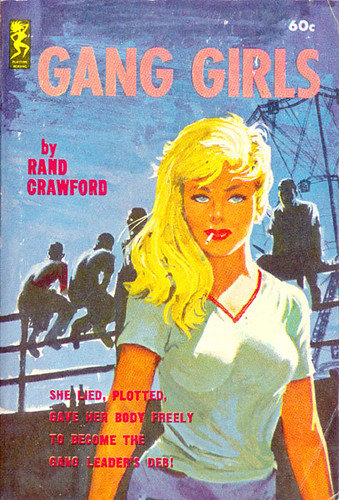 Book Cover White Girl : Gang girls playtime  author rand crawford artis