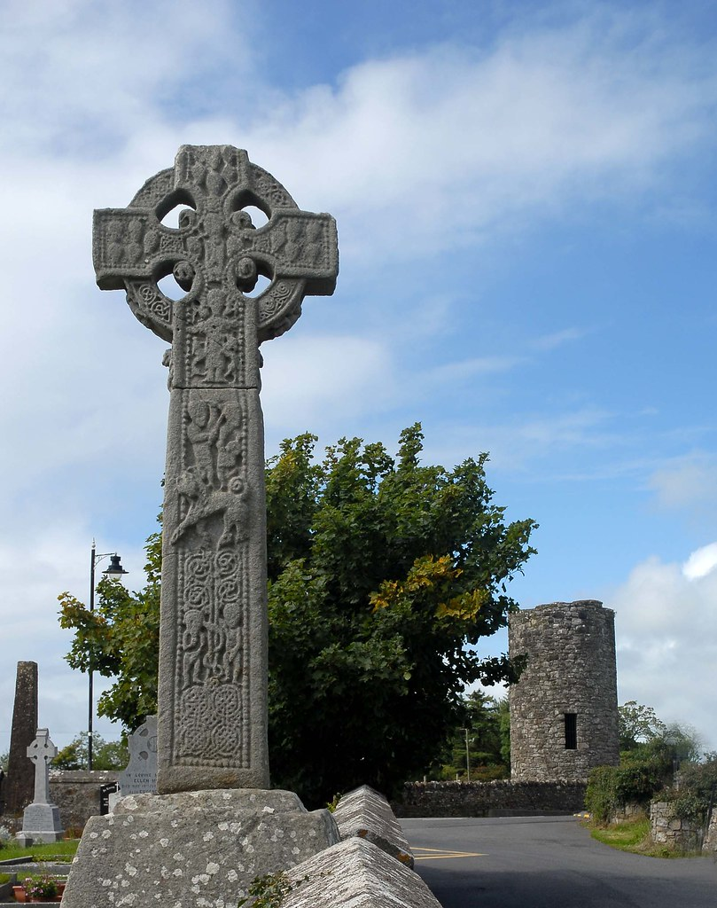 Celtic Cross Amp Tower Overlooking The Grave Of Wb Yeats