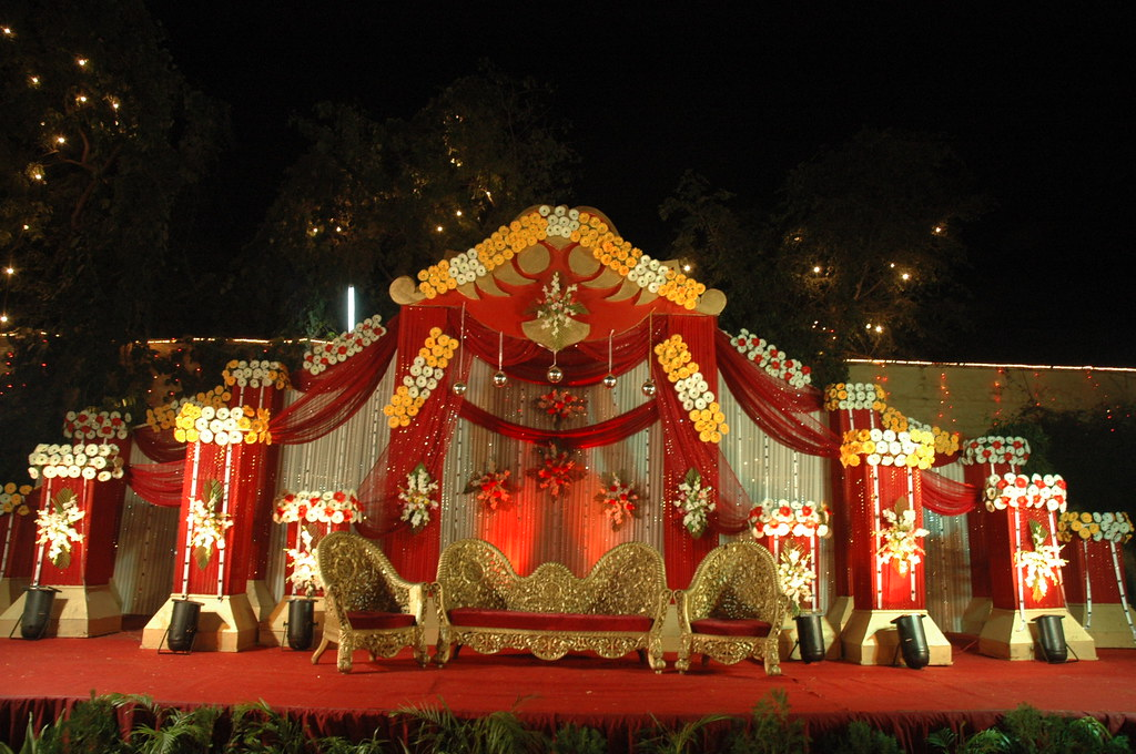 Stage Wedding Photo Wedding Reception Stage