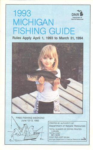 1993 michigan vintage fishing license law digest guide for Fishing license michigan