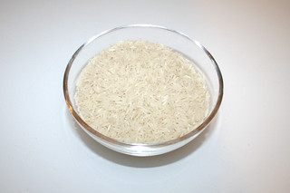 15 - Zutat Basamatireis / Ingredient basmati rice