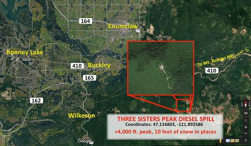 Three Sisters Radio Tower Diesel Spill
