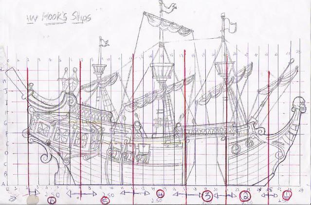 barco do capitão gancho desenho peça confeccionada em is flickr