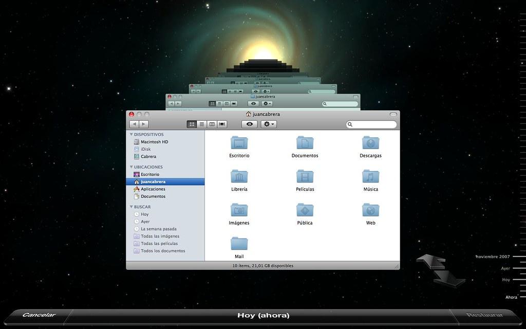 Time machine on mac os x 10 5 amo leopard juan for Cuisine 3d mac os x