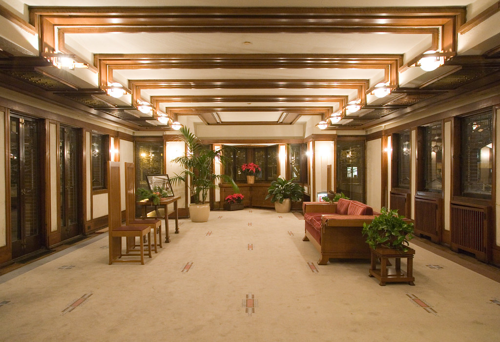Inside frank lloyd wright 39 s robie house and now for a for Frank lloyd wright house piani gratuiti