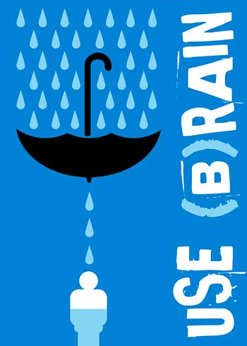 Use B Rain Eco Conscious Poster By Israeli Graphic Design Flickr