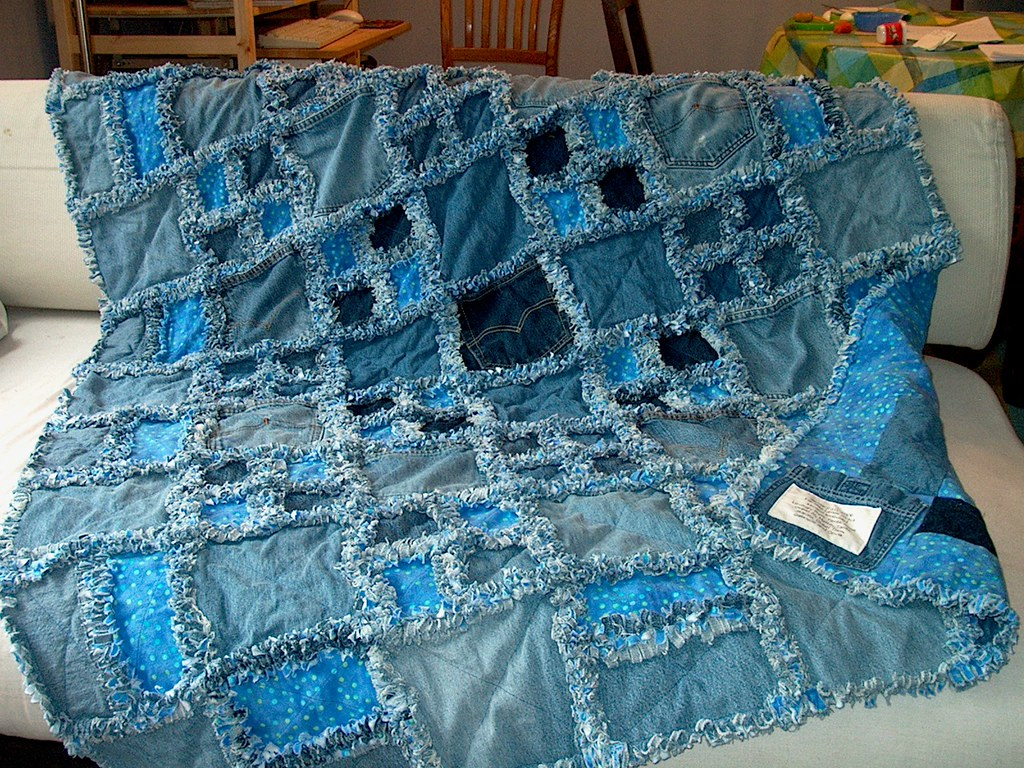 Jean Rag Quilt Twolittlemagpies Flickr