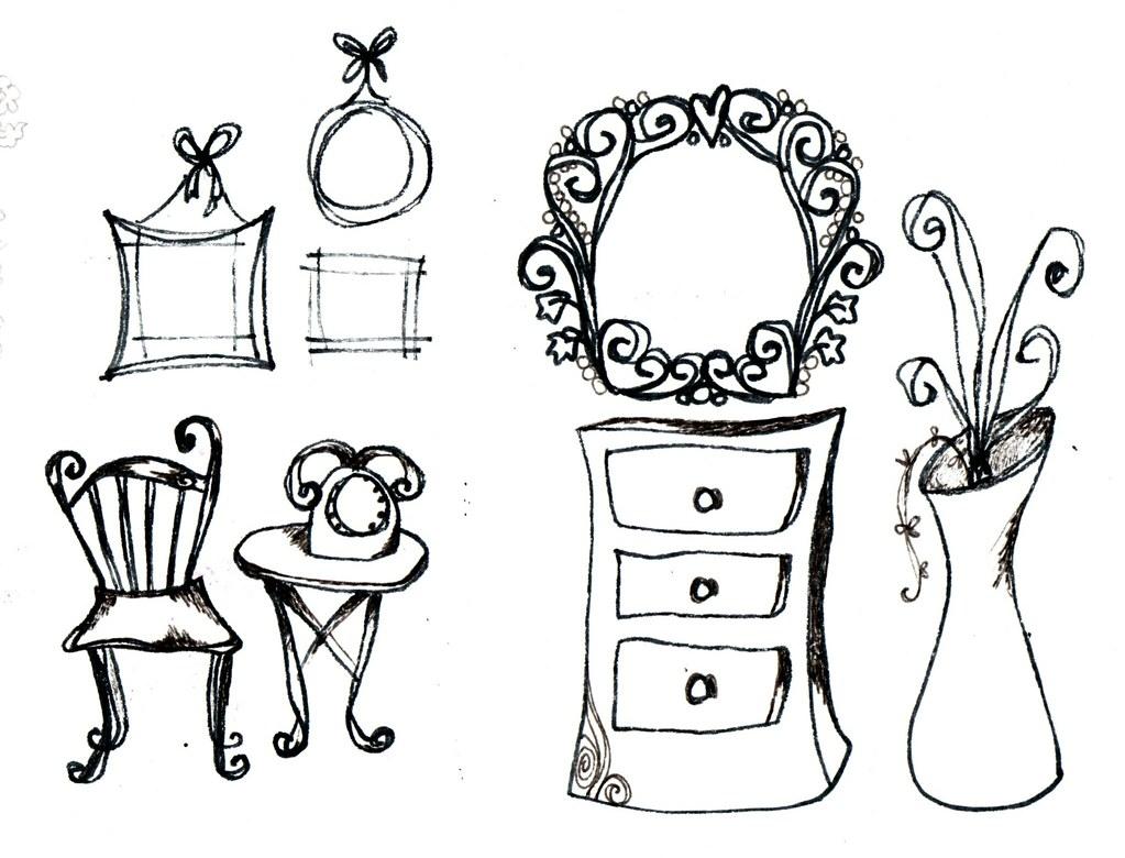 Furniture Sketches   By Melaniearmsden Furniture Sketches   By  Melaniearmsden