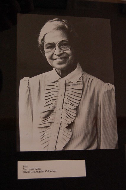 Rosa Parks   That's the lady who started it all! A photo ...