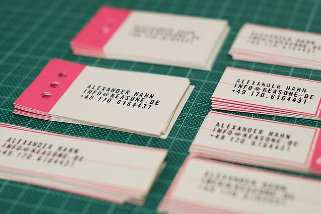 Hand Stamped Business Cards Alexander Hahn Flickr