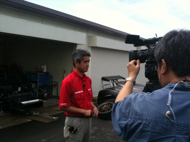 Nissan Leaf Nismo Rc開発責任者のニスモ鈴木豊さん(super Gtの時は監督ですが、今回は違う立