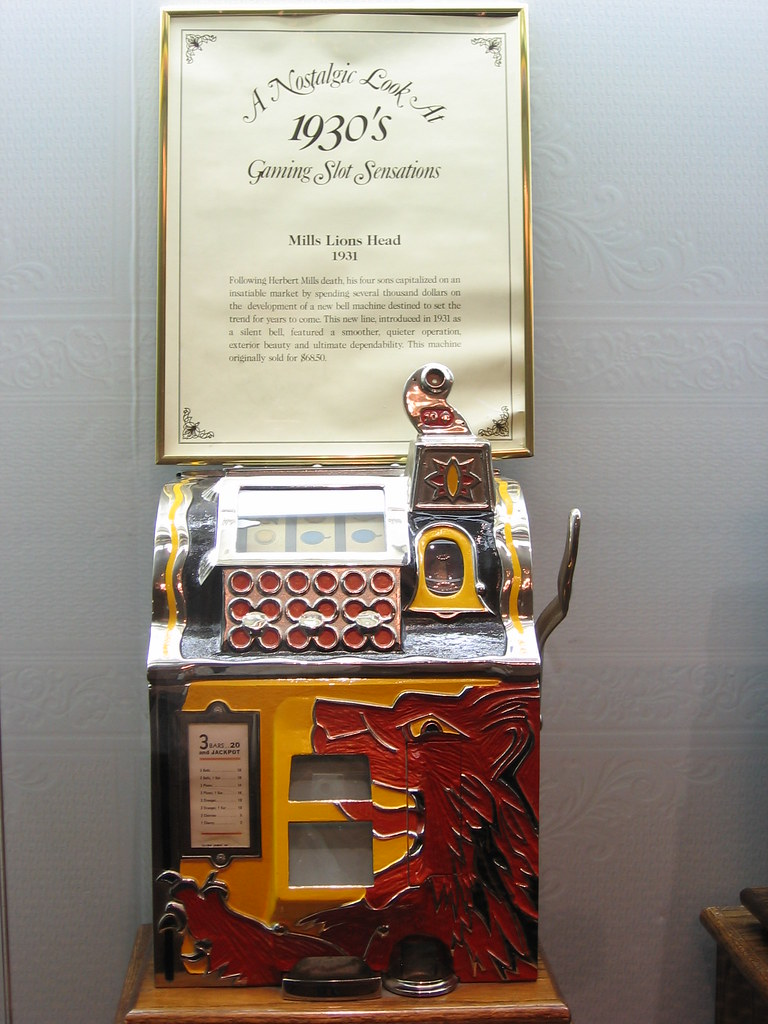 Vintage Mills Lion Head 1931 Slot Machine Iirraa Flickr