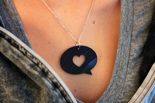 Hype Machine Vinyl Necklace | by gtmcknight