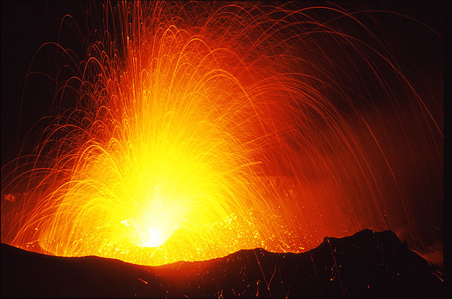 Strombolian Eruption Strombolian Eruption at