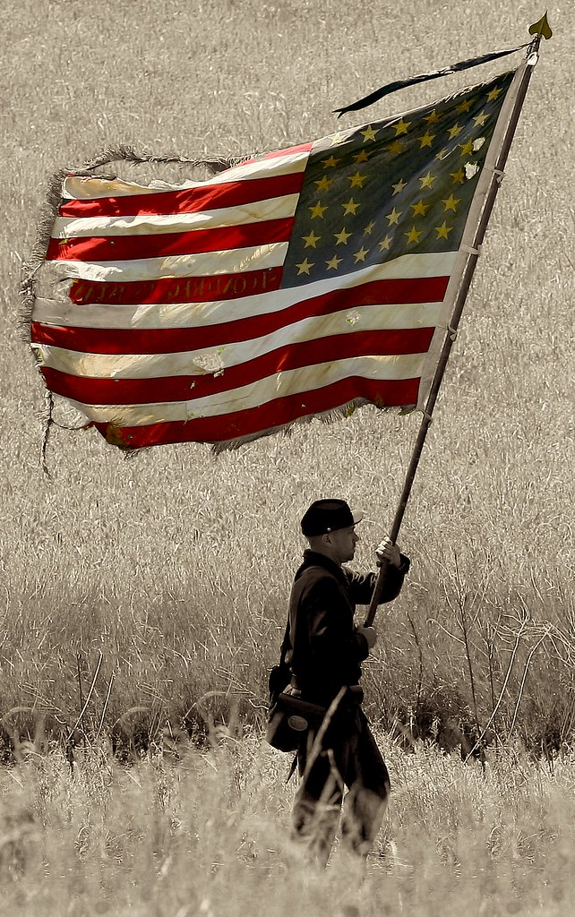 old glory american flag usa civil war reenactment ba flickr