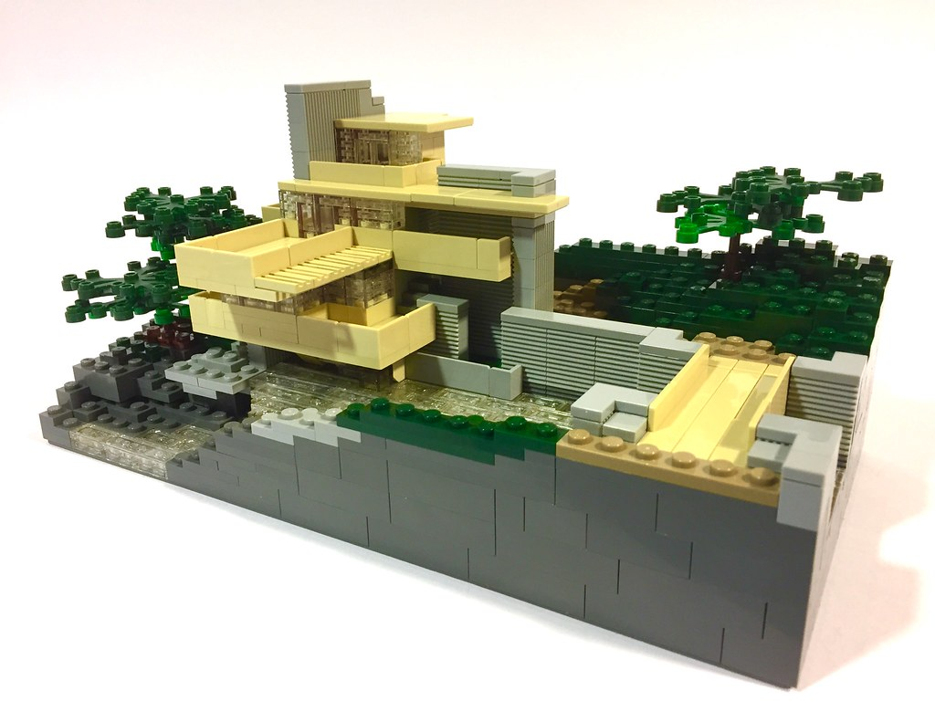 modified lego architecture set fallingwater designed by flickr