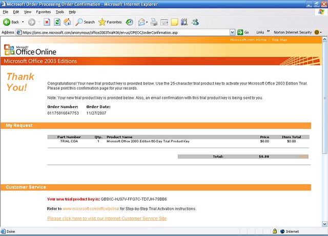 MS Office 60 day trial product key | None of Your Business | Flickr