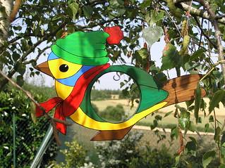 Oiseau porte boule de graisse oiseau d coup avec une - Boule de graisse oiseau ...
