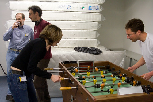 Foosball and after dinner drinks | by Unhindered by Talent