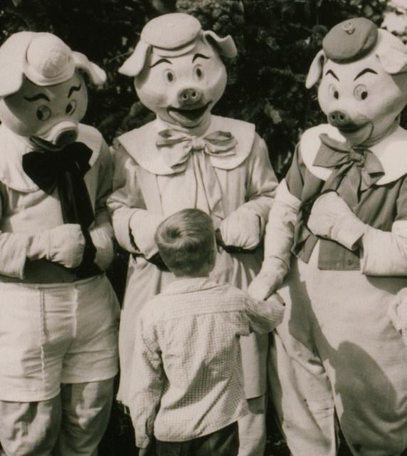 Three Little Pigs At Disneyland 1955