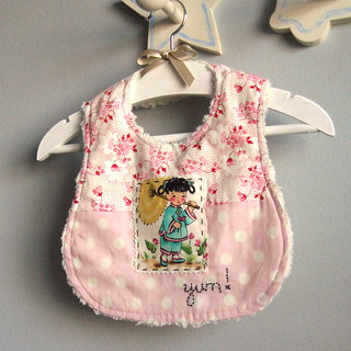 handmade bib for miss o | by nanaCompany