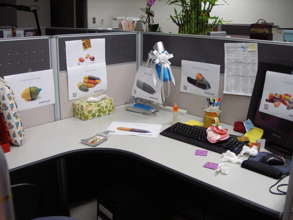 Office Prank Eric S Desk For A Complete View Of The