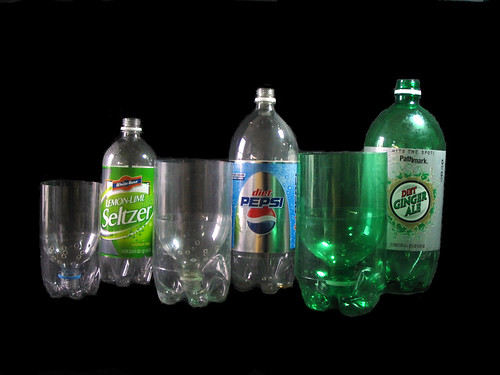 One, Two and Three Liter Soda (Pop) Bottle Planters - Step 1 | by GreenScaper