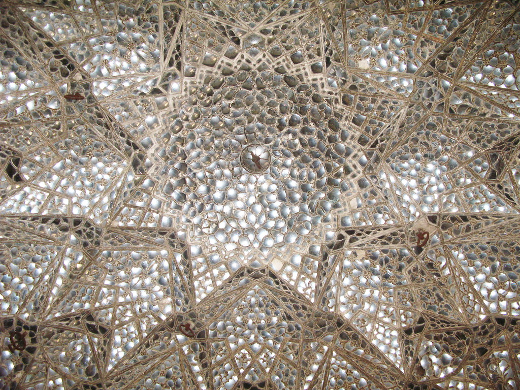 Lahore Fort Shish Mahal Hall Of Mirrors Ceiling Flickr