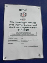 Hoarding permission sign | by wheresrhys