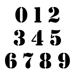 ccn0071 stencil font numbers stencils by stencilease