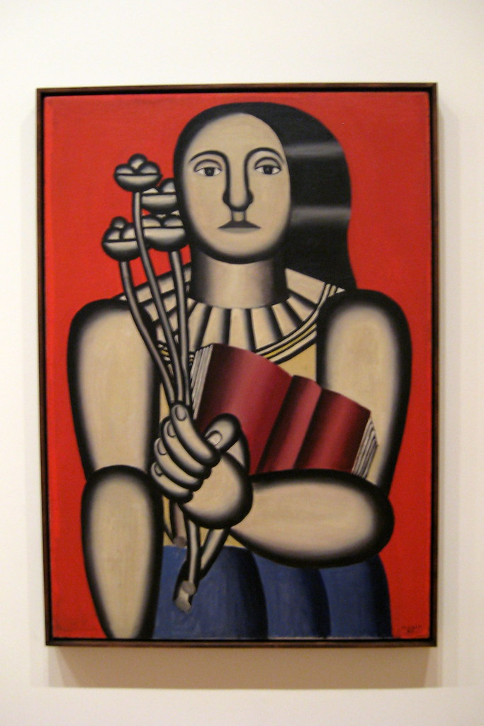 nyc moma fernand léger s woman with a book woman with a flickr