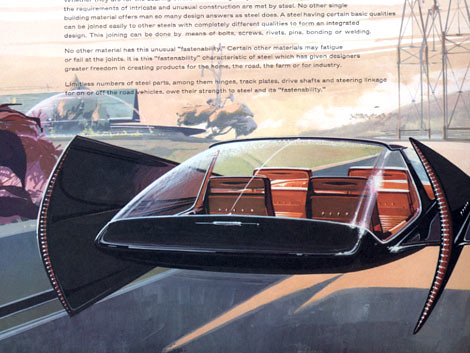 Syd Mead Concept Design For Us Steel Space Age Concept