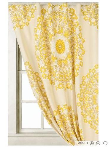 Yellow Curtains Anthro rohini yellow curtain