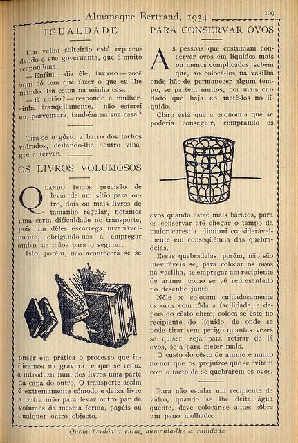 Almanaque Bertrand, 1934 - Household tricks 9