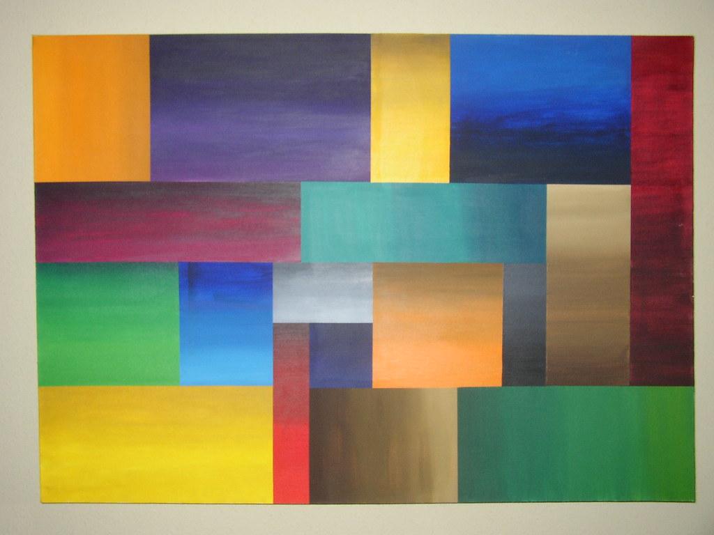 painting color blocks design related keywords painting. Black Bedroom Furniture Sets. Home Design Ideas