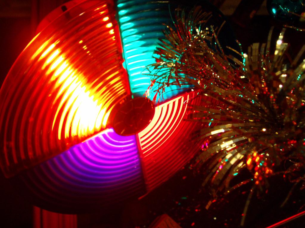 Christmas Tree Color Wheel Light 2