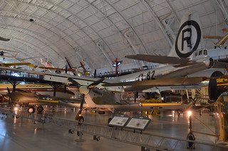 Steven F. Udvar-Hazy Center: British Hawker Hurricane, with P-38 Lightning and B-29 Enola Gay behind it | by Chris Devers