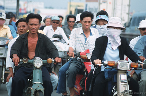 Motorcyles are a main form of transportation | by World Bank Photo Collection