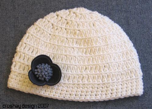crocheted skull cap white crocheted skull cap with hand ma ...