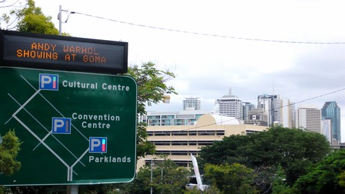 GOMA sign, road sign, Brisbane south bank | by cityofsound
